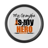 KidneyCancerHero Grandpa Large Wall Clock