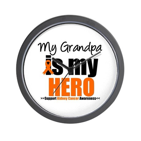 KidneyCancerHero Grandpa Wall Clock