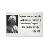 Mark Twain 15 Rectangle Magnet (10 pack)