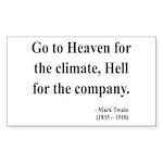 Mark Twain 29 Rectangle Sticker