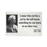 Mark Twain 34 Rectangle Magnet