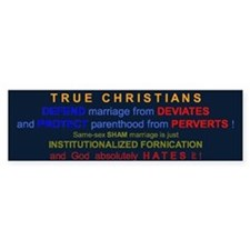Defend Marriage Bumper Bumper Sticker