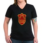Canal Zone Police Division Women's V-Neck Dark T-S