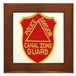Canal Zone Police Division Framed Tile