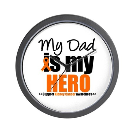 KidneyCancerHero Dad Wall Clock