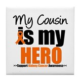 KidneyCancerHero Cousin Tile Coaster