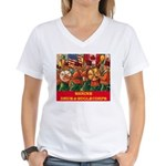 Drum & Bugle Corps Women's V-Neck T-Shirt