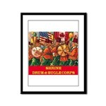 Drum & Bugle Corps Framed Panel Print
