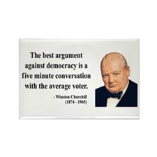 Winston Churchill 2 Rectangle Magnet (100 pack)