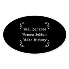 Well Behaved Oval Sticker (10 pk)