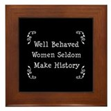 Well Behaved Framed Tile