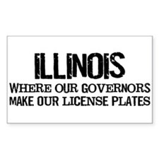 Illinois Governor Rectangle Decal