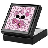 Girly Punk Skull Keepsake Box