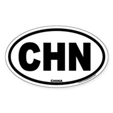 China CHN Euro Oval Country Code Decal