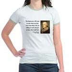 Thomas Jefferson 3 Jr. Ringer T-Shirt