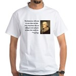 Thomas Jefferson 3 White T-Shirt
