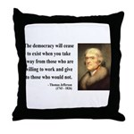 Thomas Jefferson 3 Throw Pillow