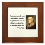 Thomas Jefferson 3 Framed Tile
