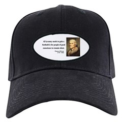 Thomas Jefferson 4 Black Cap