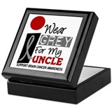 I Wear Grey For My Uncle 9 Keepsake Box
