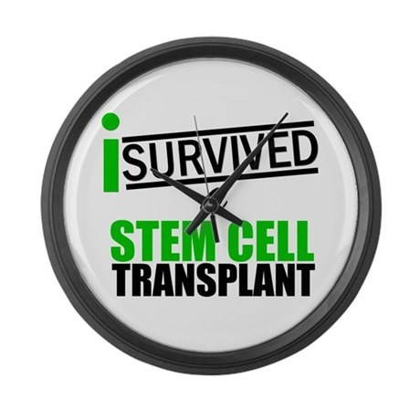 StemCellTransplant Survivor Large Wall Clock