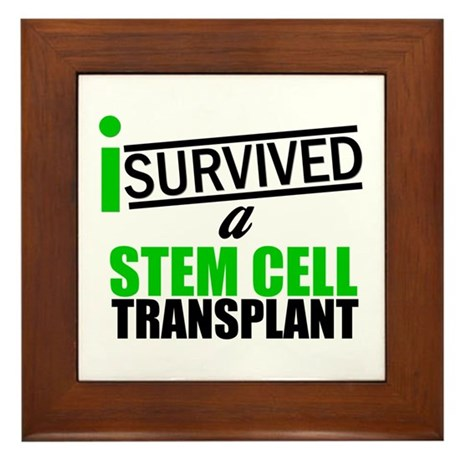 StemCellTransplant Survivor Framed Tile