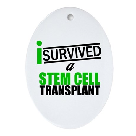 StemCellTransplant Survivor Oval Ornament