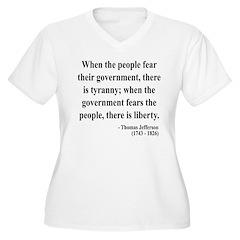 Thomas Jefferson 6 Women's Plus Size V-Neck T-Shir