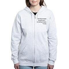 Thomas Jefferson 8 Women's Zip Hoodie