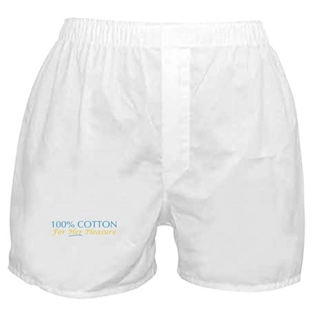 100% Cotton for Her Pleasure Boxer Shorts