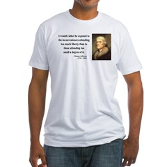 Thomas Jefferson 11 Fitted T-Shirt
