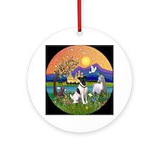 Fox Terrier in Fantasy Land Ornament (Round)