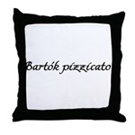Bartok pizzicato Throw Pillow