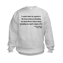 Thomas Jefferson 11 Kids Sweatshirt