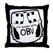Down With OBV Throw Pillow
