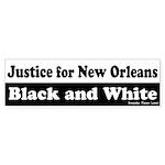 New Orleans Justice Bumper Sticker
