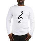 Treble Clef Long Sleeve T-Shirt