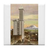Vintage Seattle Smith Tower Tile Coaster