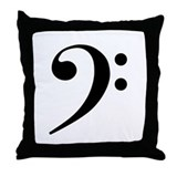 Bass Clef Throw Pillow