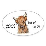 2009 Year Of The Ox Oval Sticker (50 pk)