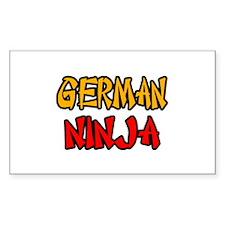"""German Ninja"" Rectangle Decal"