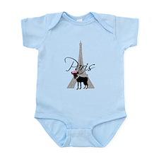 Le petit chien Paris Infant Bodysuit