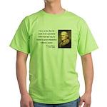 Thomas Jefferson 19 Green T-Shirt