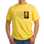 Thomas Jefferson 19 Yellow T-Shirt