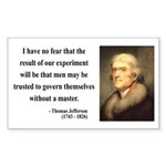 Thomas Jefferson 19 Rectangle Sticker