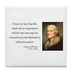 Thomas Jefferson 19 Tile Coaster