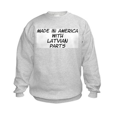 Latvian Parts Kids Sweatshirt