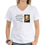Thomas Jefferson 26 Women's V-Neck T-Shirt