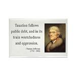 Thomas Jefferson 26 Rectangle Magnet (10 pack)