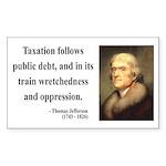 Thomas Jefferson 26 Rectangle Sticker